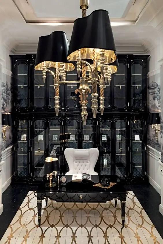 Inspiration Windsor pour ce bureau luxueux impressionnant