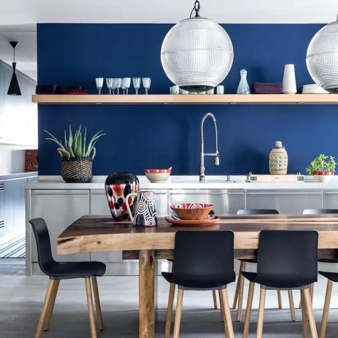 cuisine moderne bleu marine