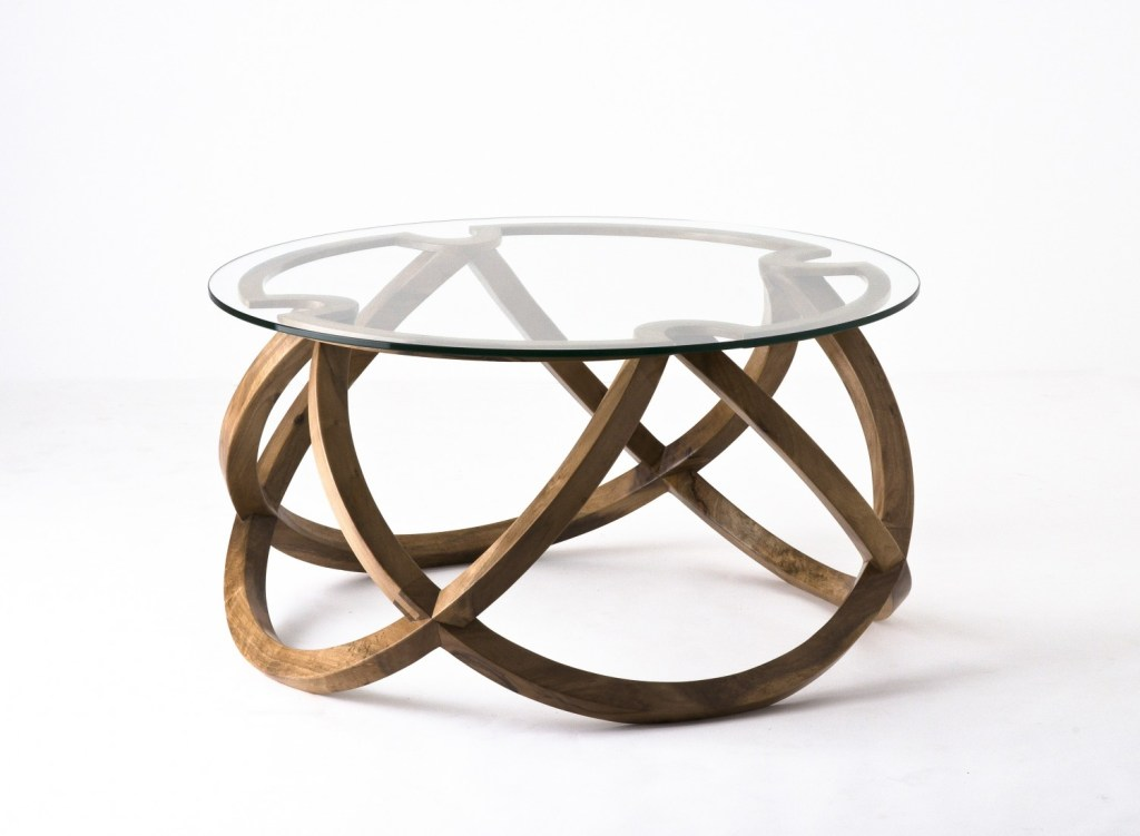 Piétement de table en bois inspiré de la symbolique Infini