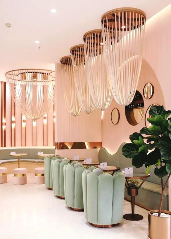 aménagement ou agencement design d'un bar d'hôtel