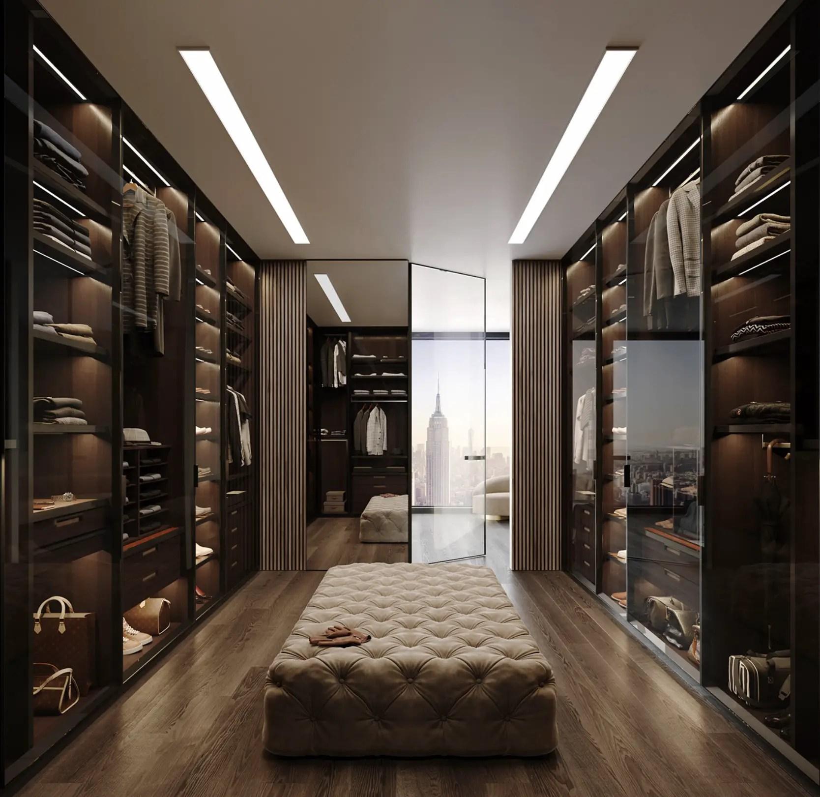 L'autre côté de la pièce qui monte le grand miroir et l'entrée.