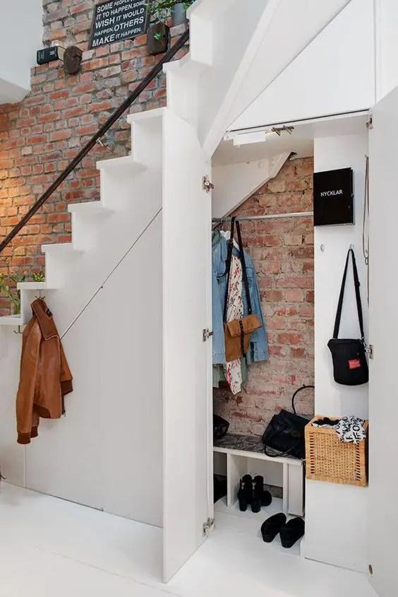 aménagement escalier pour entrée