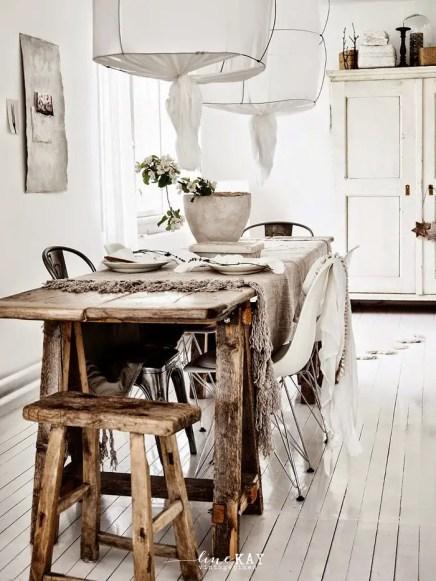 Une salle à manger au style scandinave.