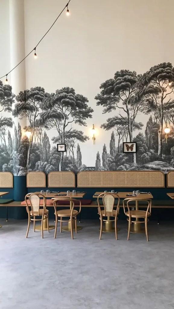 restaurant avec décoration très vintage