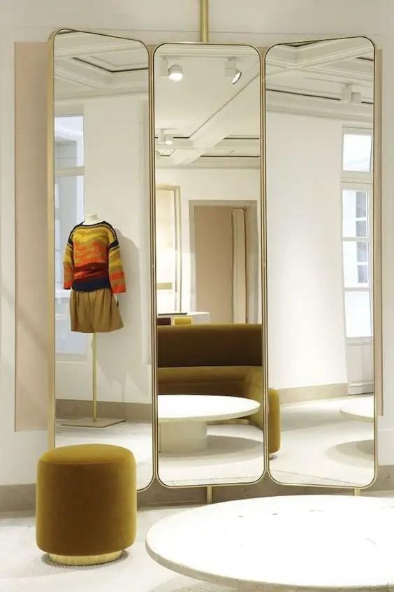 Miroirs boutique pour agrandir l'espace