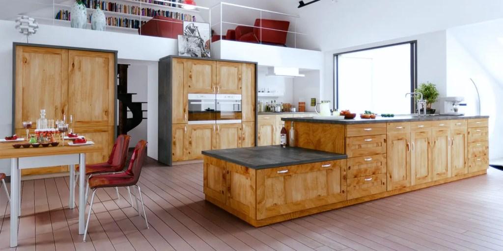 cuisine en bois massif traditionnelle