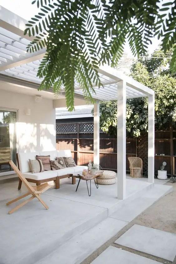 aménagement terrasse salon de jardin en bois