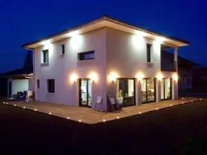 spots lumineux pour  l'aménagement de la terrasse