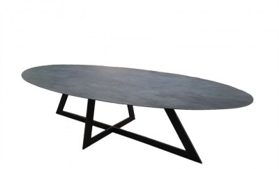 Table ovale céramique artisan