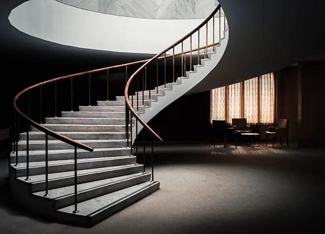 lexique menuisier : la balustrade d'un escalier