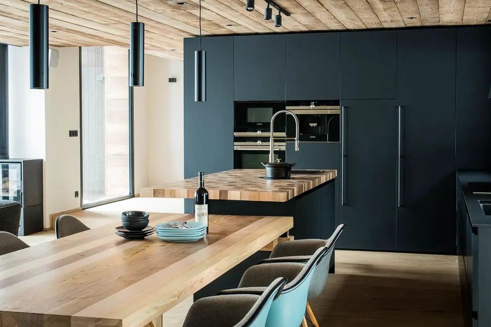cuisine et plan de travail sur mesure en bois