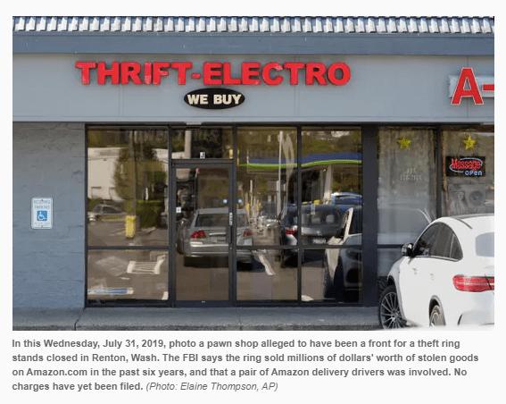 Thrift Electro Pawn Shop In Washington