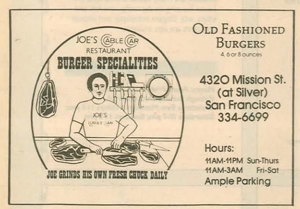 Joe's Cable Car Burgers - Joe Grinds His Own Fresh Chuck Daily