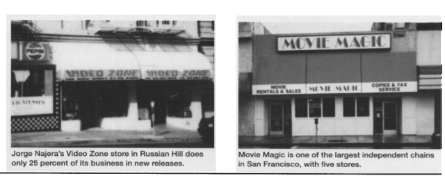 There were many neighborhood video rental stores in 1990's era San Francisco