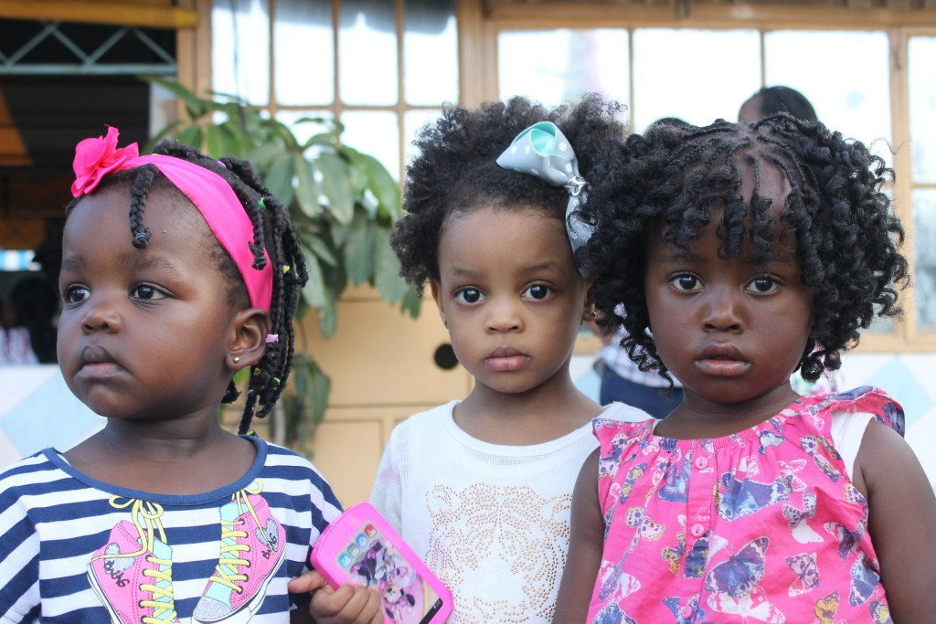 Lill'missbelle, her friend and one of the youngest kids from the home aged 2 years. Such a diva!