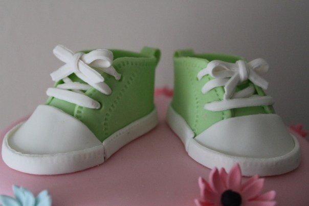 green baby sneakers