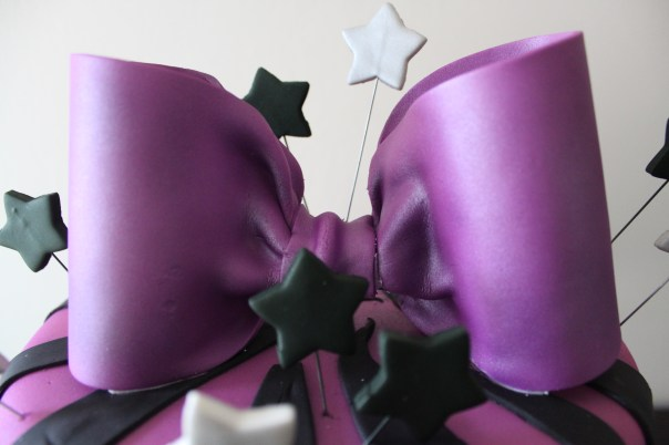 purple gum paste bow