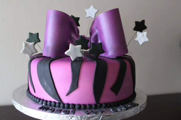 purple zebra cake