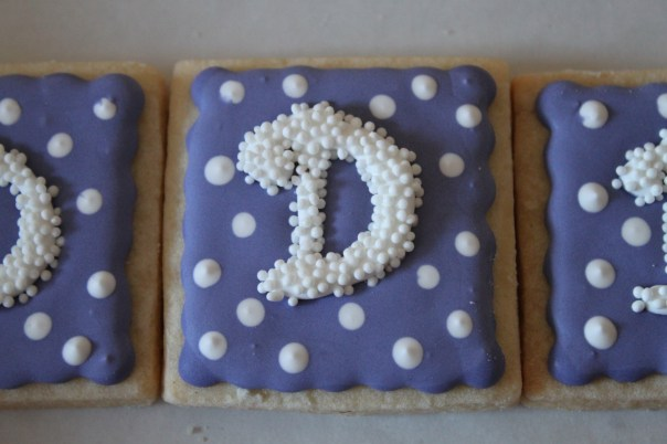 Square Monogram Cookies