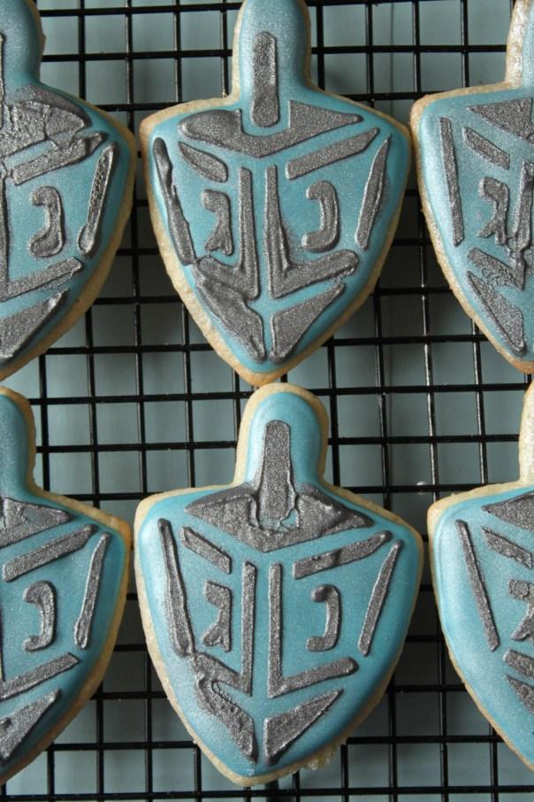 Dreidel Stencil Cookies