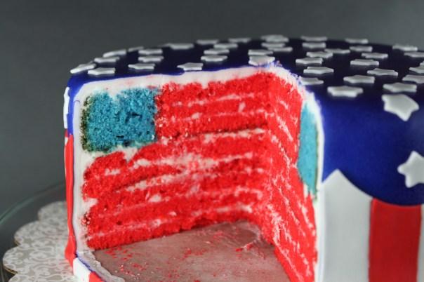 American Flag Layer Cake