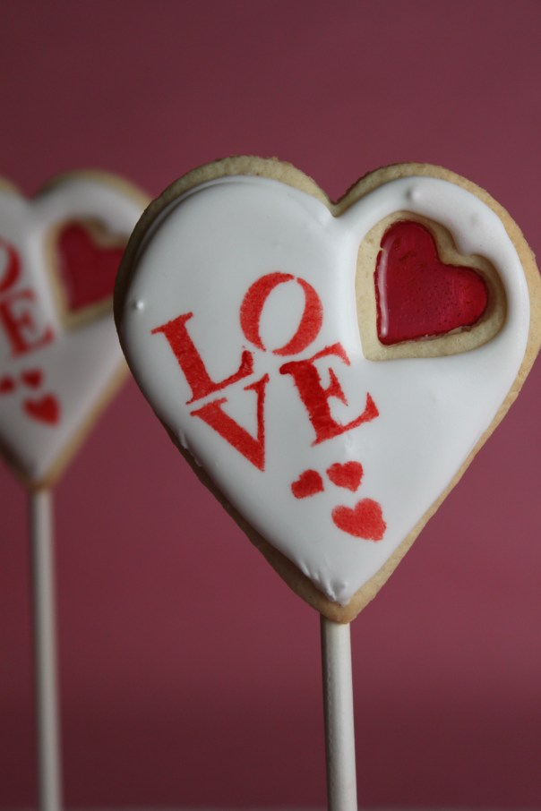 Heart Shaped Love Stained Glass Cookies