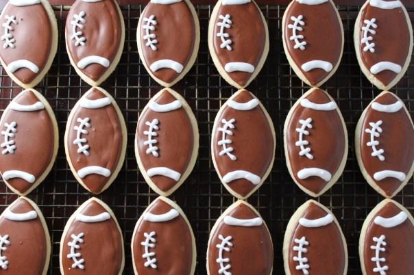Lots of Football Cookies