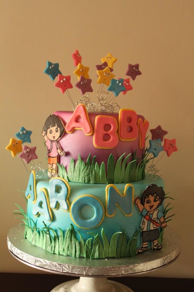 Dora and Diego Birthday Cake Lil Miss Cakes