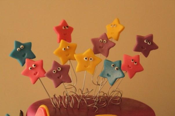 Dora the Explorer fondant stars