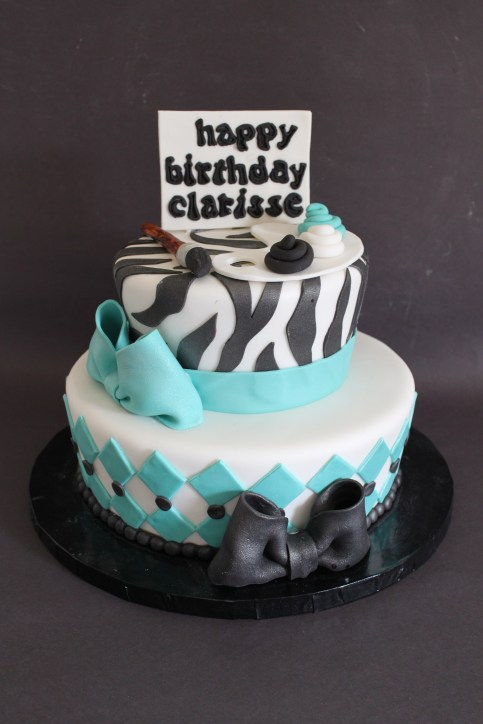 Tapered Layers Art Themed Cake