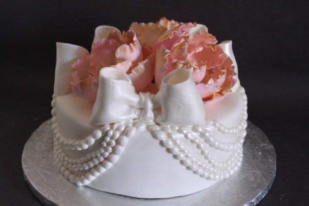 Draped Pearl Cake