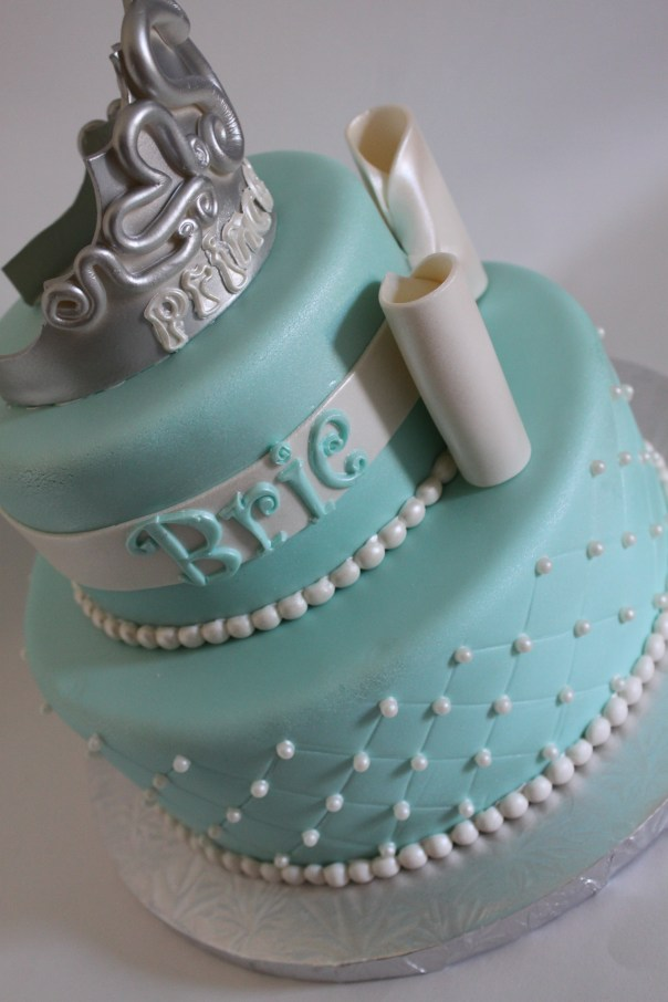 Princess Tiara Cake Side View