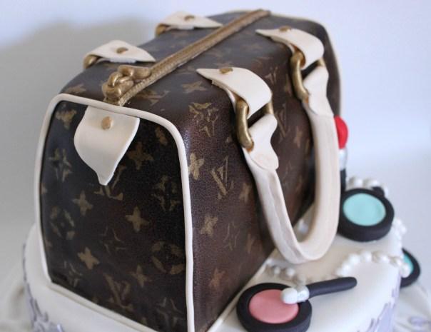 Side View of Handbag Cake
