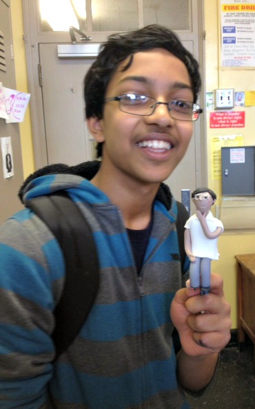 Arvind and his gum paste figure