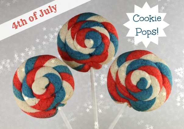 Red White and Blue Cookie Pops