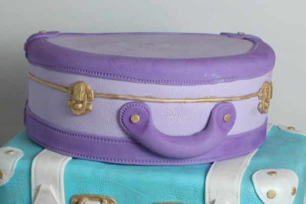Purple Fondant Suitcase