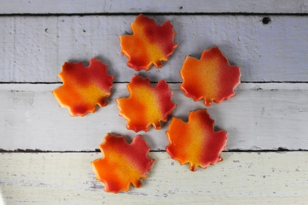 Fall Themed Leaf Cookies