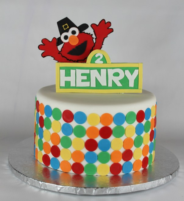 Pilgrim Elmo Birthday Cake