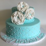 Tiffany Blue Quilted Birthday Cake