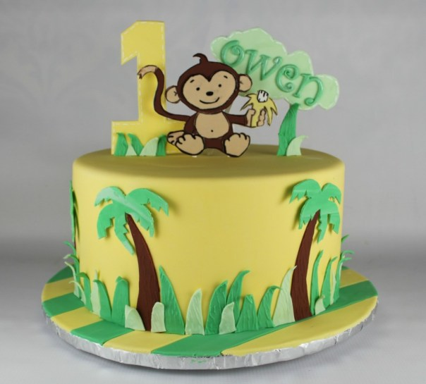 Jungle Themed Birthday Party Cakes