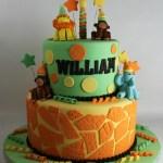 Textured Safari Birthday Cake