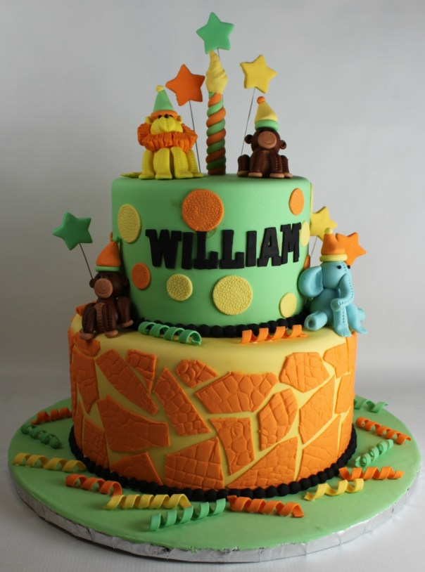 Textured Safari Birthday Cake