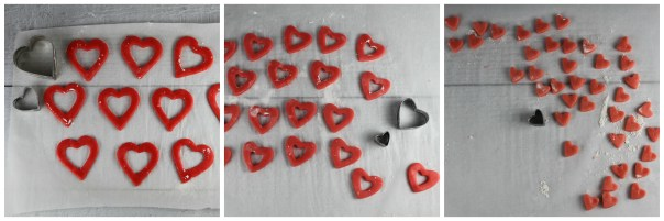Cutting Out Ombre Sugar Cookie Dough
