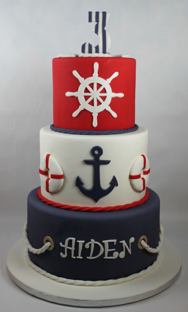 Nautical birthday cake lil 39 miss cakes for 3d printer cake decoration