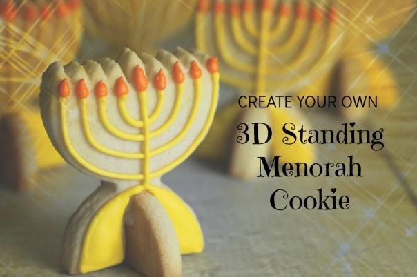 3D Menorah Cookie