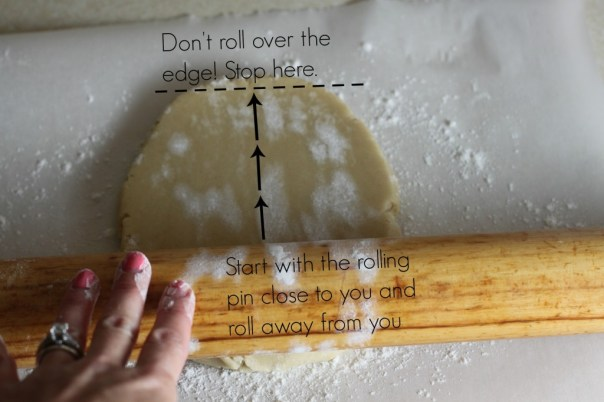 Rolling out sugar cookie dough