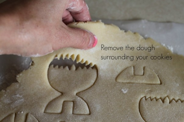 Remove excess cookie dough