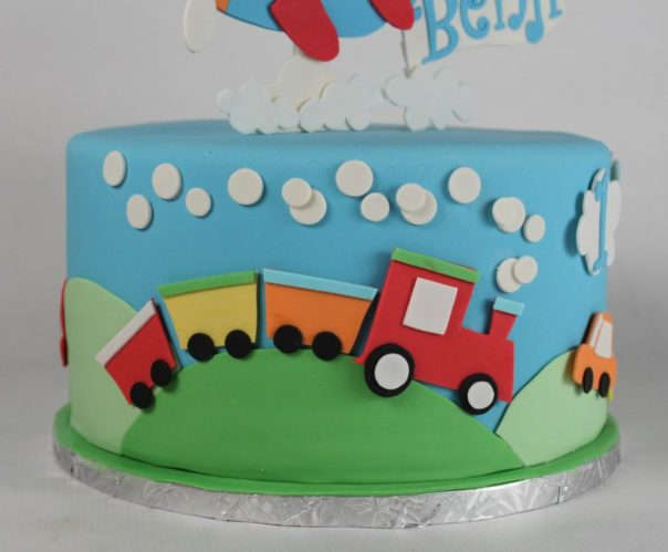 Fondant train cut outs