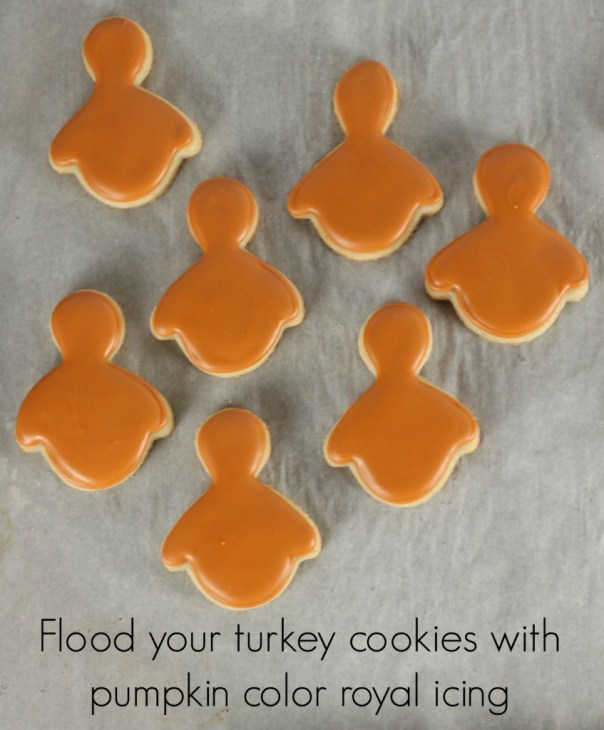 Turkey Royal Icing Cookies