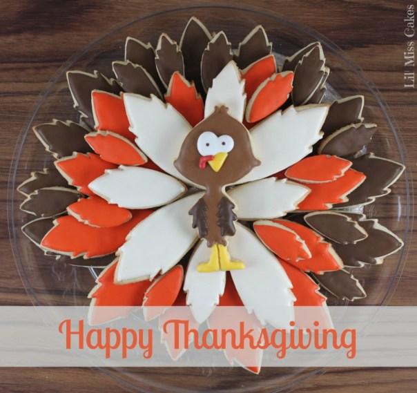 Turkey Cookie Platter